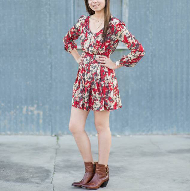 cute summer dresses to wear with cowboy boots