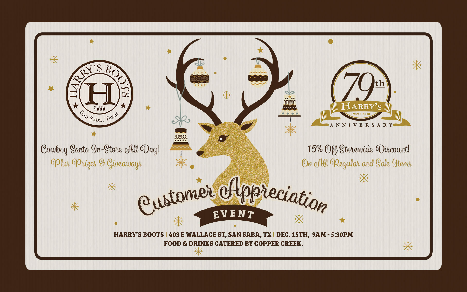 Harry's Boots 79th Anniversary & Customer Appreciation Event