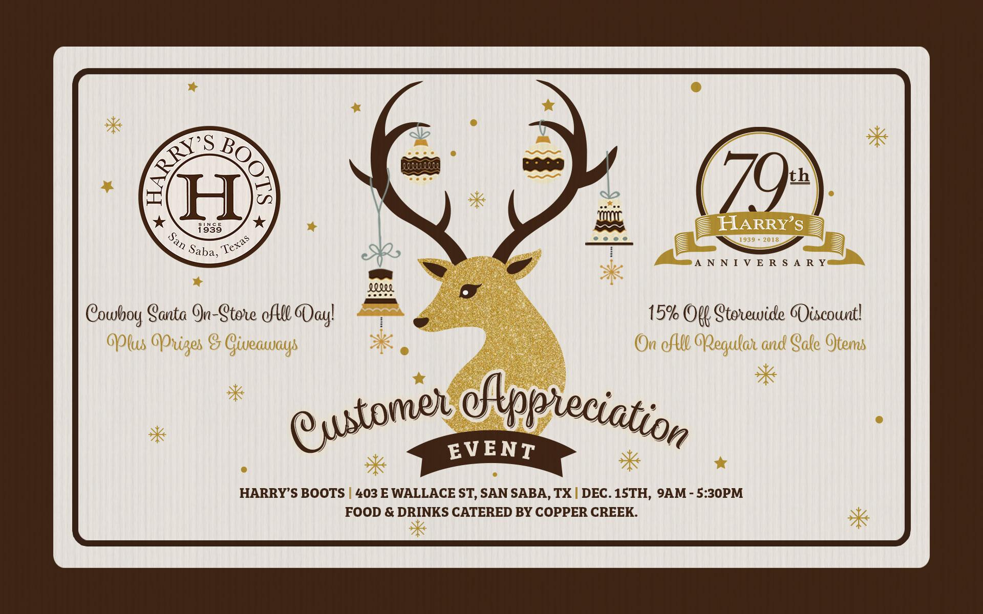 Harry's Boots 79th Anniversary & Customer Appreciation Event